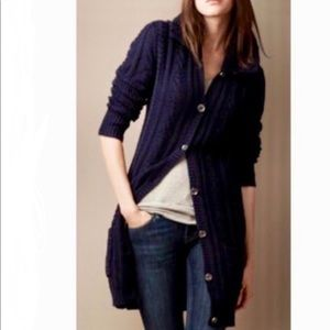 Elie Tahari Navy blue Long Knit cardigan